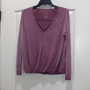 American Eagle purple women's shirt size medium
